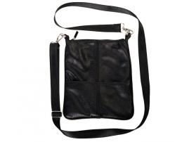 Материал. бел.руб. мужская сумка через плечо имеет гладкую текстуру.